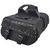 VS222S Vance Leather Medium 2 Strap Saddle Bag with Studs