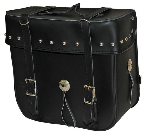 VS316 Vance Leather Medium 2 Strap Studded Sissy Bar Bag