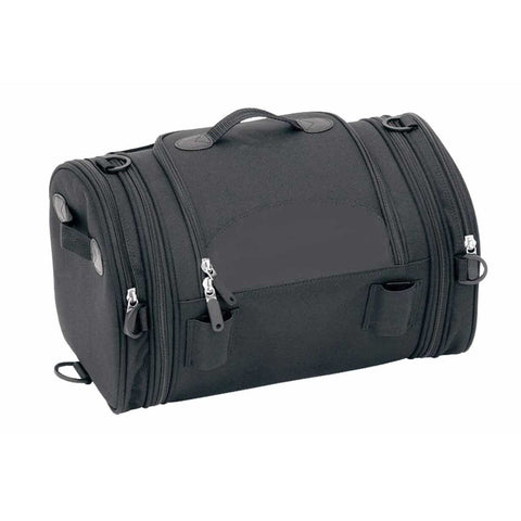 VS382 Expandable Trunk Bag W/Faux Leather Trim 10x10x16 - Daytona Bikers Wear