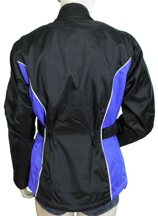 VL1570 Ladies Contoured Textile Jacket with Colored Accent Sides & Reflective Piping - Daytona Bikers Wear