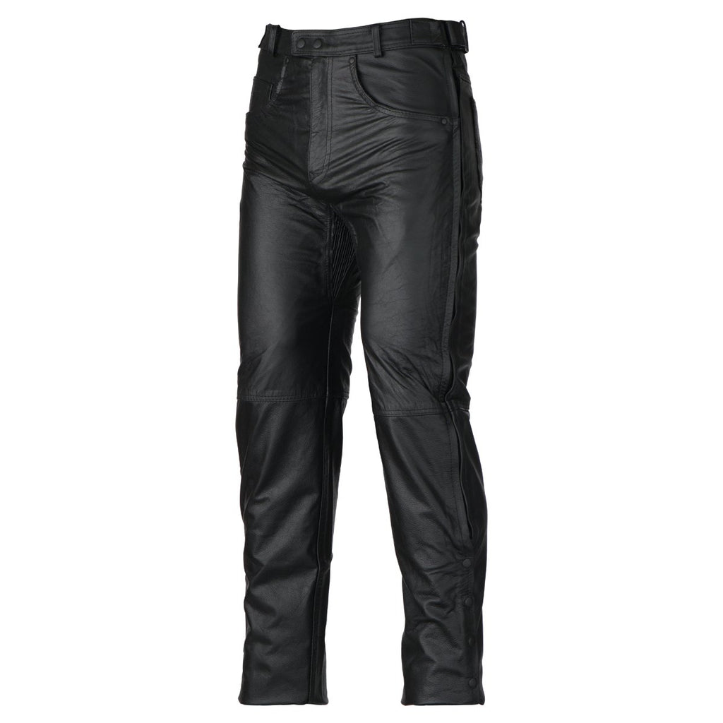 LP1000 Black Motorcycle Leather Overpants