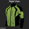 Mens Hi-Vis Mesh Motorcycle Jacket with CE Armor
