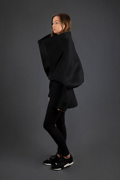 Black Space Mesh Three Way Jacket