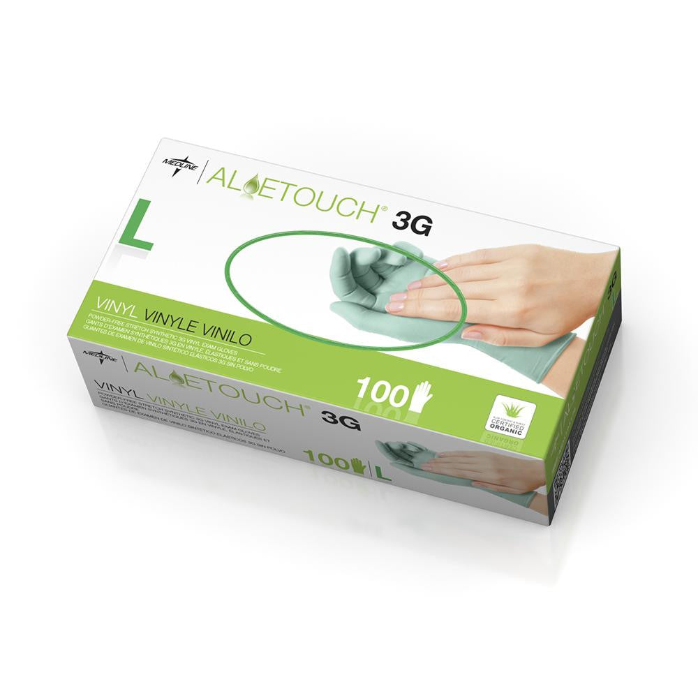 Aloetouch 3G Synthetic Exam Gloves  - Green - Large - 100 Each / Box - CA ONLY