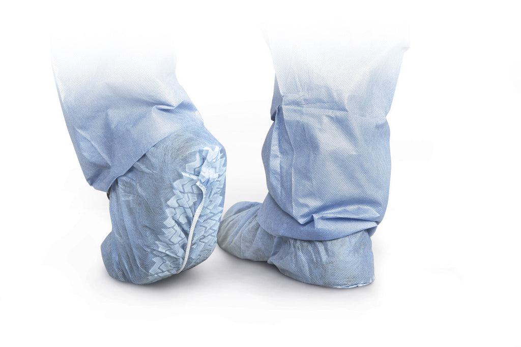 Standard Polypropylene Non-Skid Shoe Covers - 100 Each / Box