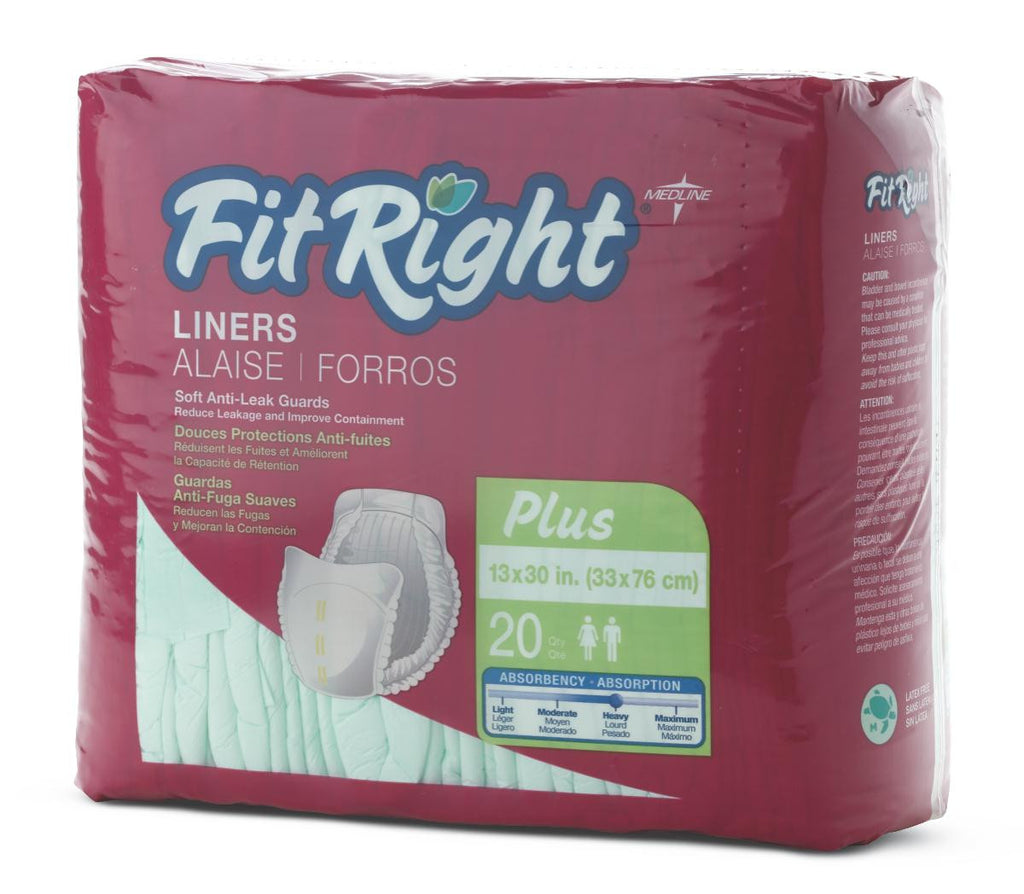 "FitRight Liners - Green - 13 X30 (13"" X 30"") - 80 Each / Case"