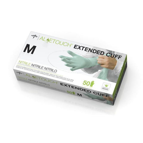 Aloetouch Extended Cuff Chemo Nitrile Exam Gloves - Medium