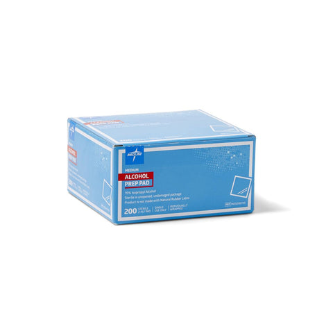 Medline Sterile Alcohol Prep Pads - Medium - 3000 Each / Case