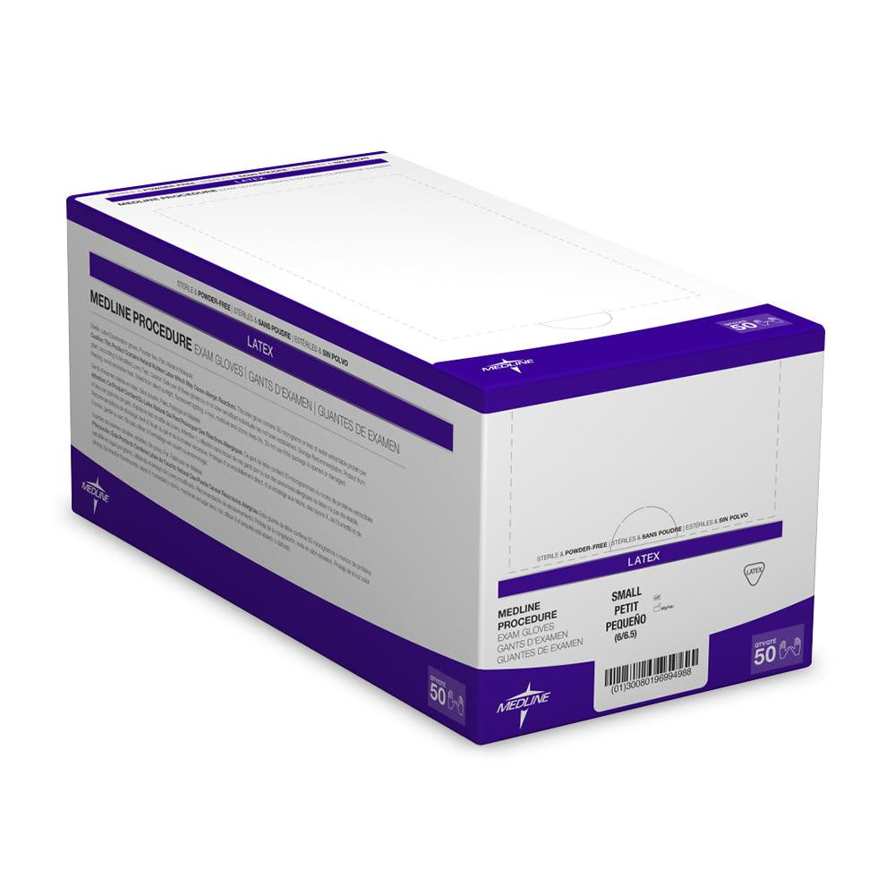Medline Sterile Powder-Free Latex Exam Glove Pairs