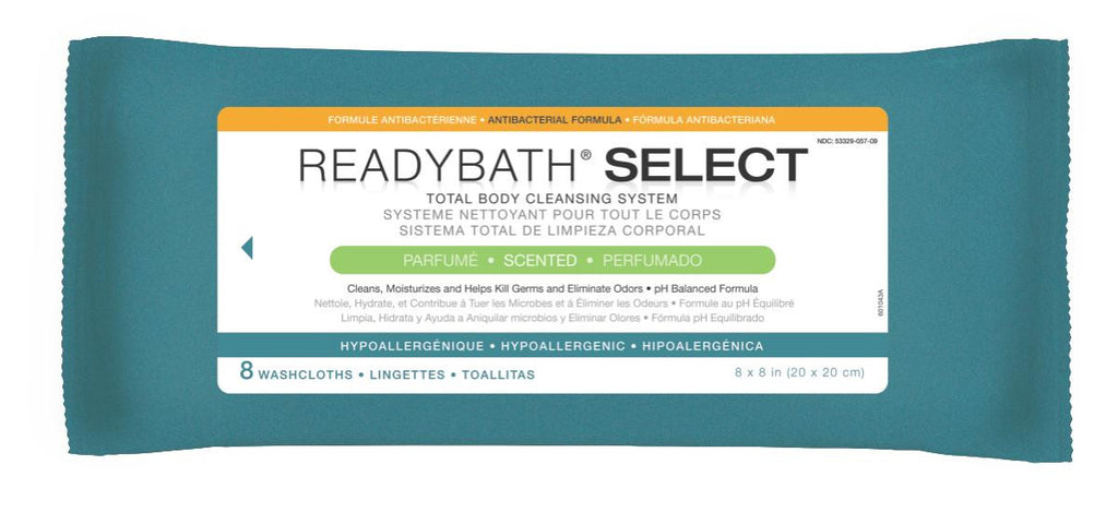 ReadyBath SELECT Medium Weight Cleansing Washcloths - 30 Pack / Case