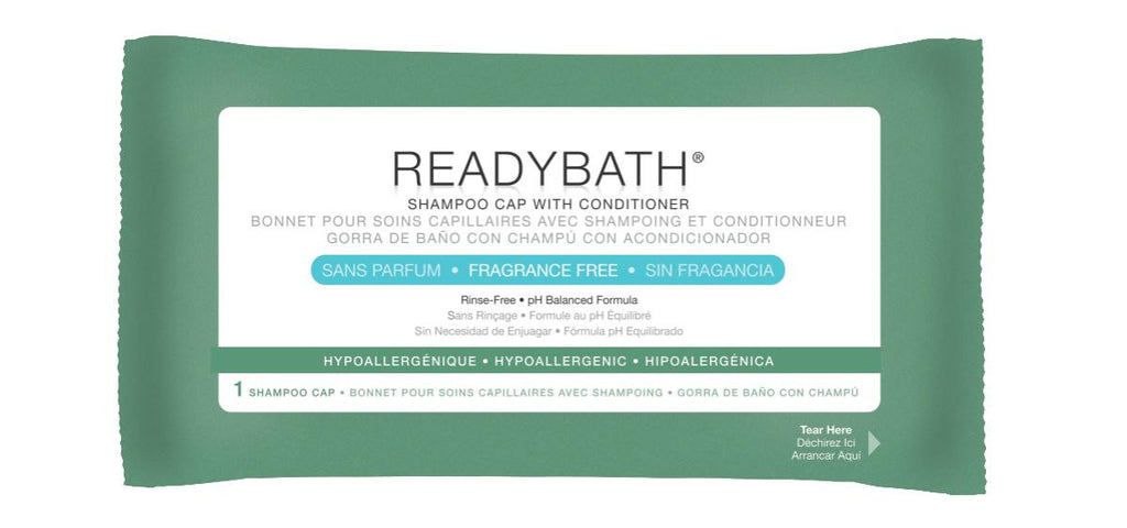 ReadyBath Rinse-Free Shampoo and Conditioning Caps - 30 Each / Case