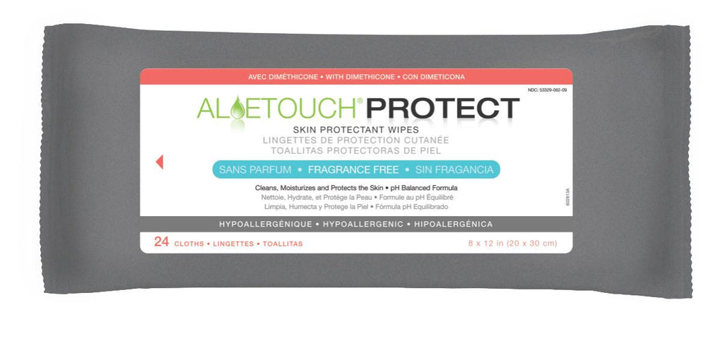 Aloetouch PROTECT Dimethicone Skin Protectant Wipes - 24 Pack / Case