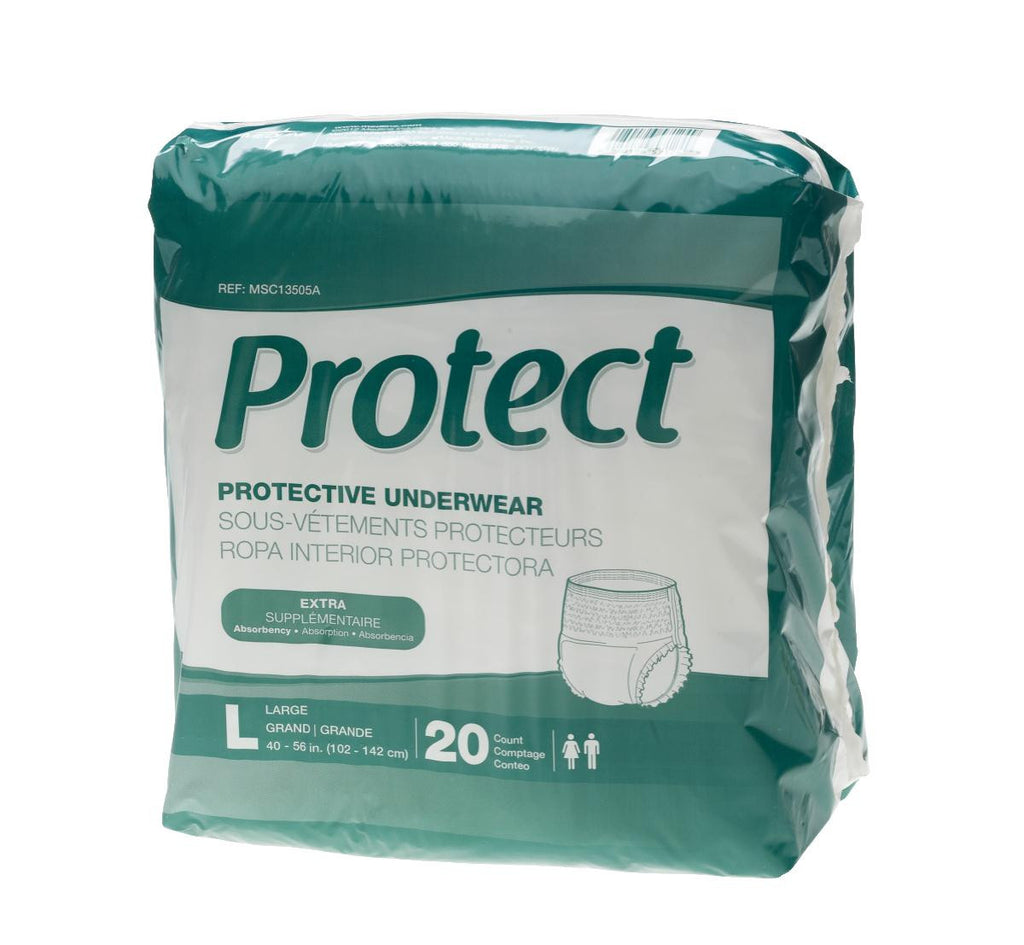 Protect Extra Protective Underwear - Large - 20 Each / Bag