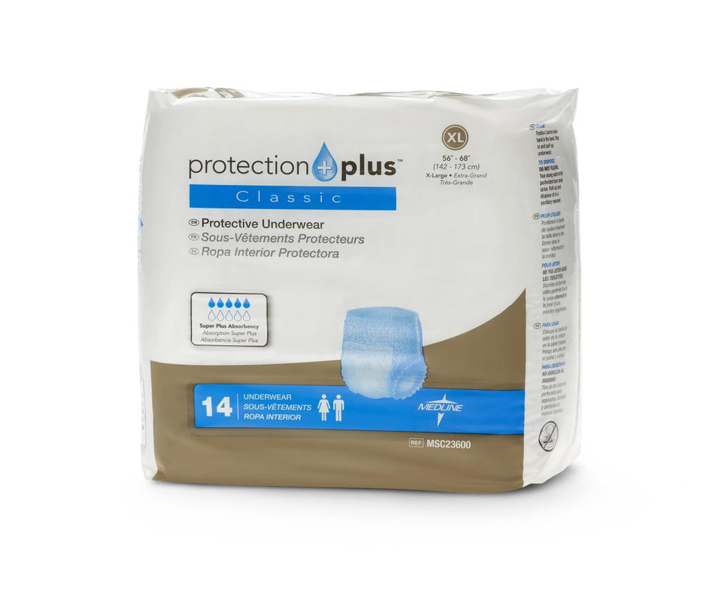 Protection Plus Classic Protective Underwear - X-Large - 56 Each / Case