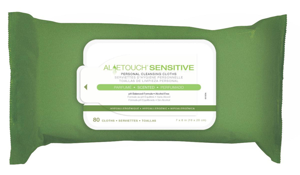 Aloetouch SELECT Premium Spunlace Personal Cleansing Wipes - 15 Pack / Case