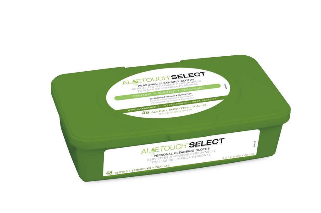 Aloetouch SELECT Premium Spunlace Personal Cleansing Wipes - 12 Pack / Case