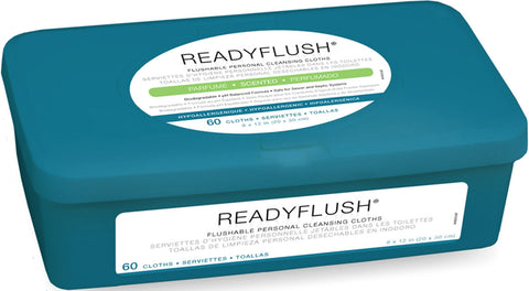 ReadyFlush Biodegradable Flushable Wipes - 9 Pack / Case