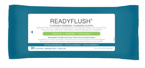 ReadyFlush Biodegradable Flushable Wipes - 24 Pack / Case
