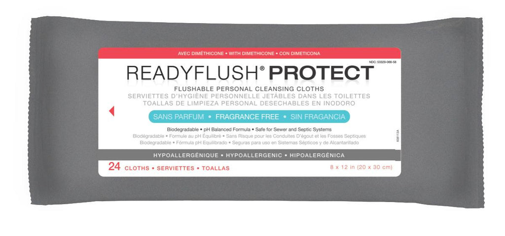 ReadyFlush Biodegradable Flushable Wipes - 24 Each / Pack