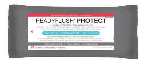 ReadyFlush Biodegradable Flushable Wipes - 576 Each / Case