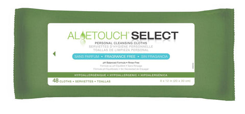 Aloetouch SELECT Premium Spunlace Personal Cleansing Wipes Fragrance Free