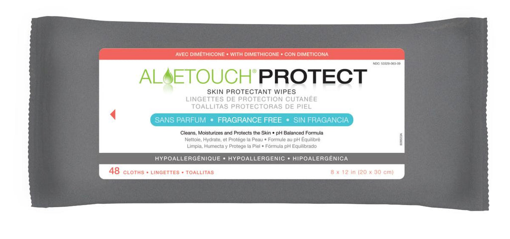 Aloetouch PROTECT Dimethicone Skin Protectant Wipes - 12 Pack / Case
