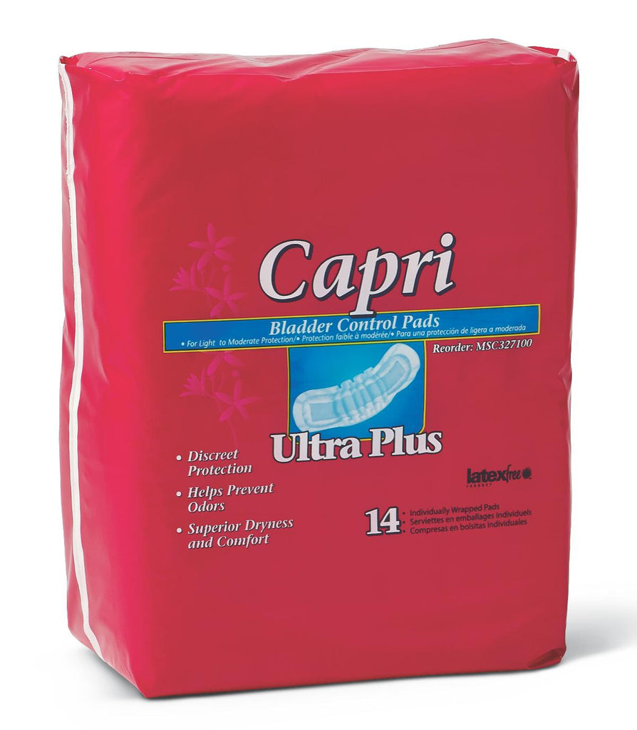 "Capri Bladder Control Pads - 3.25"" X 13"" - 126 Each / Case"