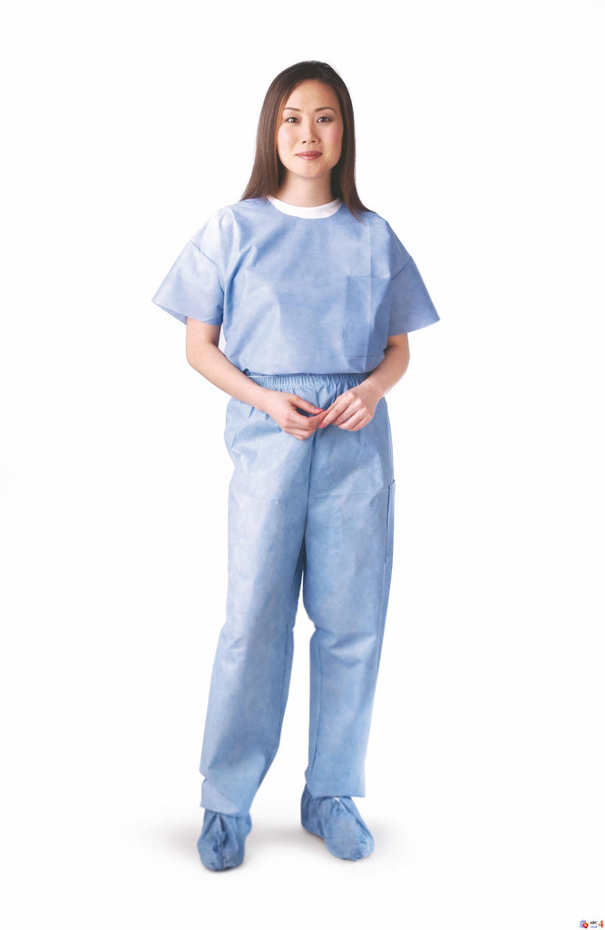 Disposable Scrub Pants - Blue - Medium - 30 Each / Case