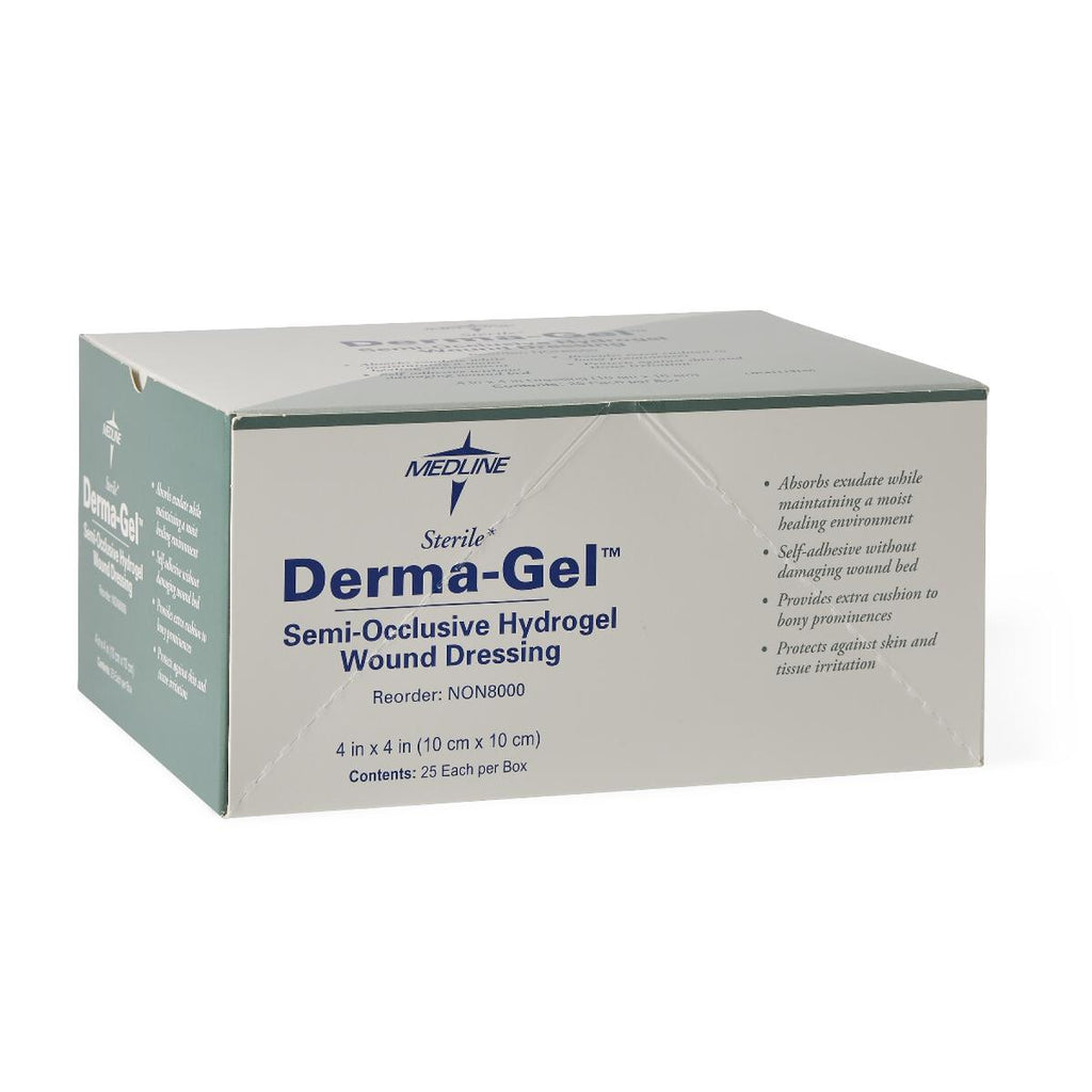 DermaGel Hydrogel Sheets - 100 Each / Case