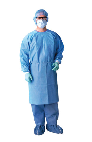AAMI Level 3 Isolation Gowns - Blue - X-Large - 50 Each / Case