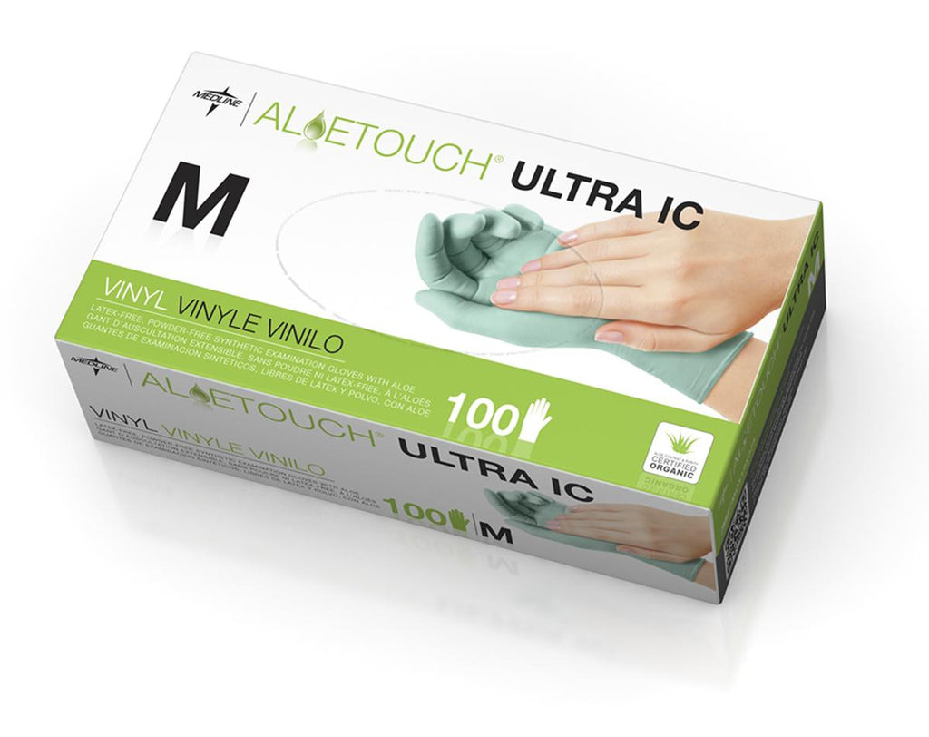 Aloetouch Ultra IC Synthetic Exam Gloves  - Green - CA ONLY