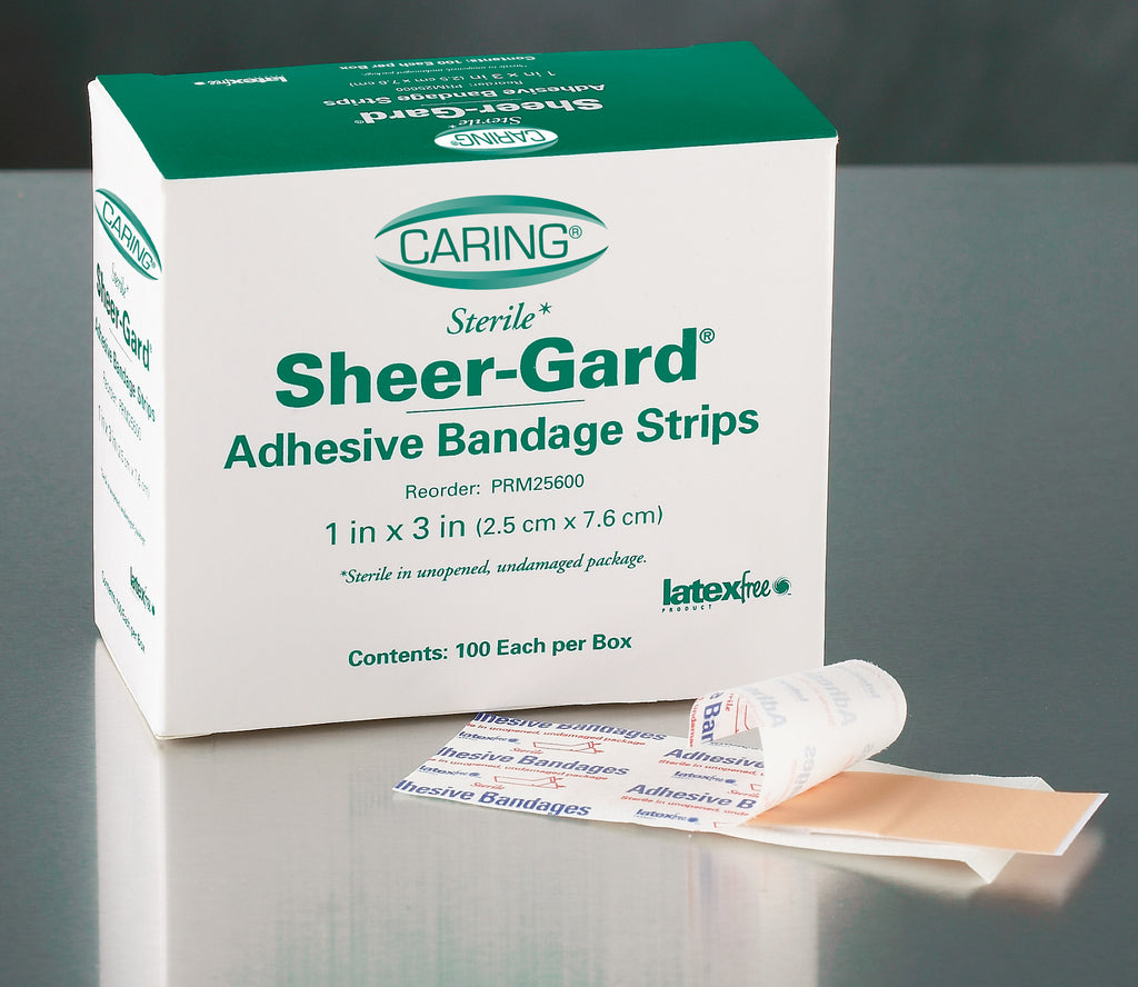 Caring Plastic Adhesive Bandages - Natural - No - 100 Each / Box