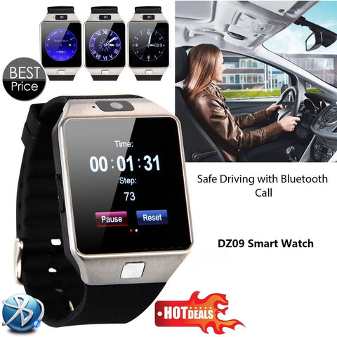 New Smart Watch dz09 With Camera Bluetooth - Ladys Jewels & More