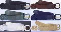 Wholesale Mens Elastic Braided Stretch Belts 1-1/4""