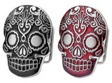 Wholesale RED Mexican Katrina Tattooed Belt Buckle 1169