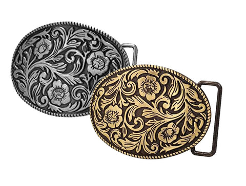 WHOLESALE Western Cowgirl Flowers Belt Buckle 1542