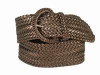 Wholesale Girl's Wide Braided Casual Belt Brownze belt 3002BNZ