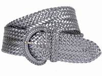 Wholesale Girl's Wide Braided Casual Belt Silver belt 3002SV