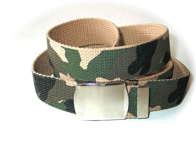 "Wholesale Military Web cotton Canvas BELT STRAP ONLY 30mm Wide Desert Camouflage color 56"" Long 4000PDC"