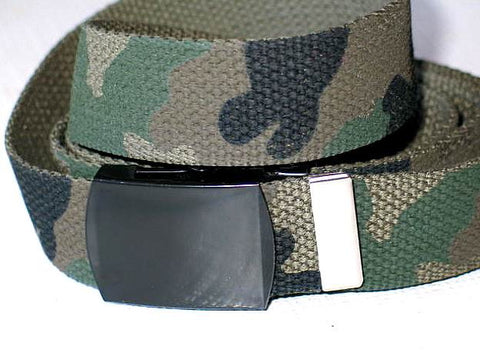 "Wholesale Military Web cotton Canvas Belt 30mm Wide OLIVE Camouflage color 50"" Long 4000POC"
