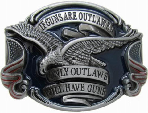 If Guns are Outlawed Belt Buckle Wholesale 1646