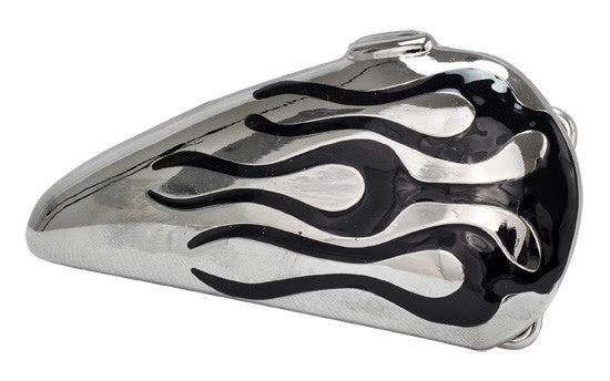 Wholesale Black Flames Silver Motorcycle Gas Tank Belt Buckle 1569