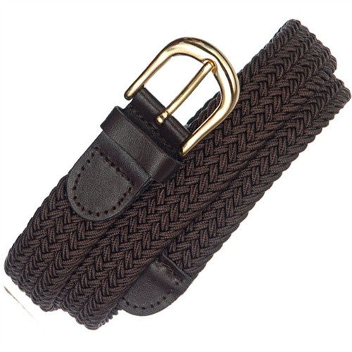 "Wholesale men's stretch belt, Gold Buckle brown Belt 1-1/4"" 7100BN"