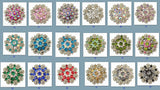 Wholesale Western Rhinestone Berry Conchos 6 Pieces CH128