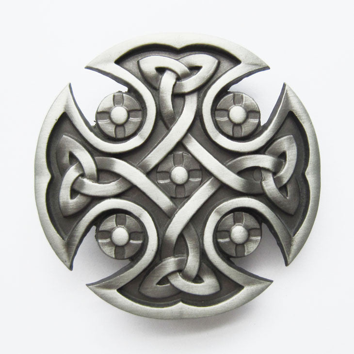 Irish Celtic Knot Belt Buckle Medieval 1444