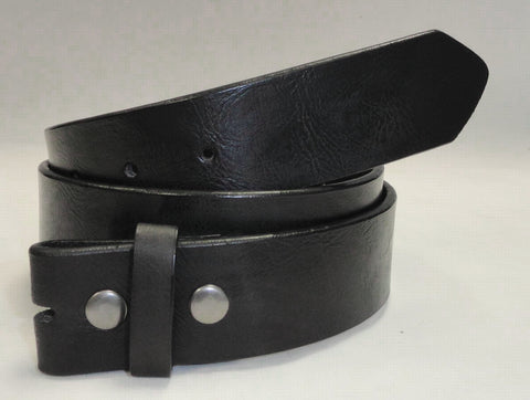 Wholesale Grained LEATHER SNAP ON BELT STRAP Black color Belt buckle belt NC61BK