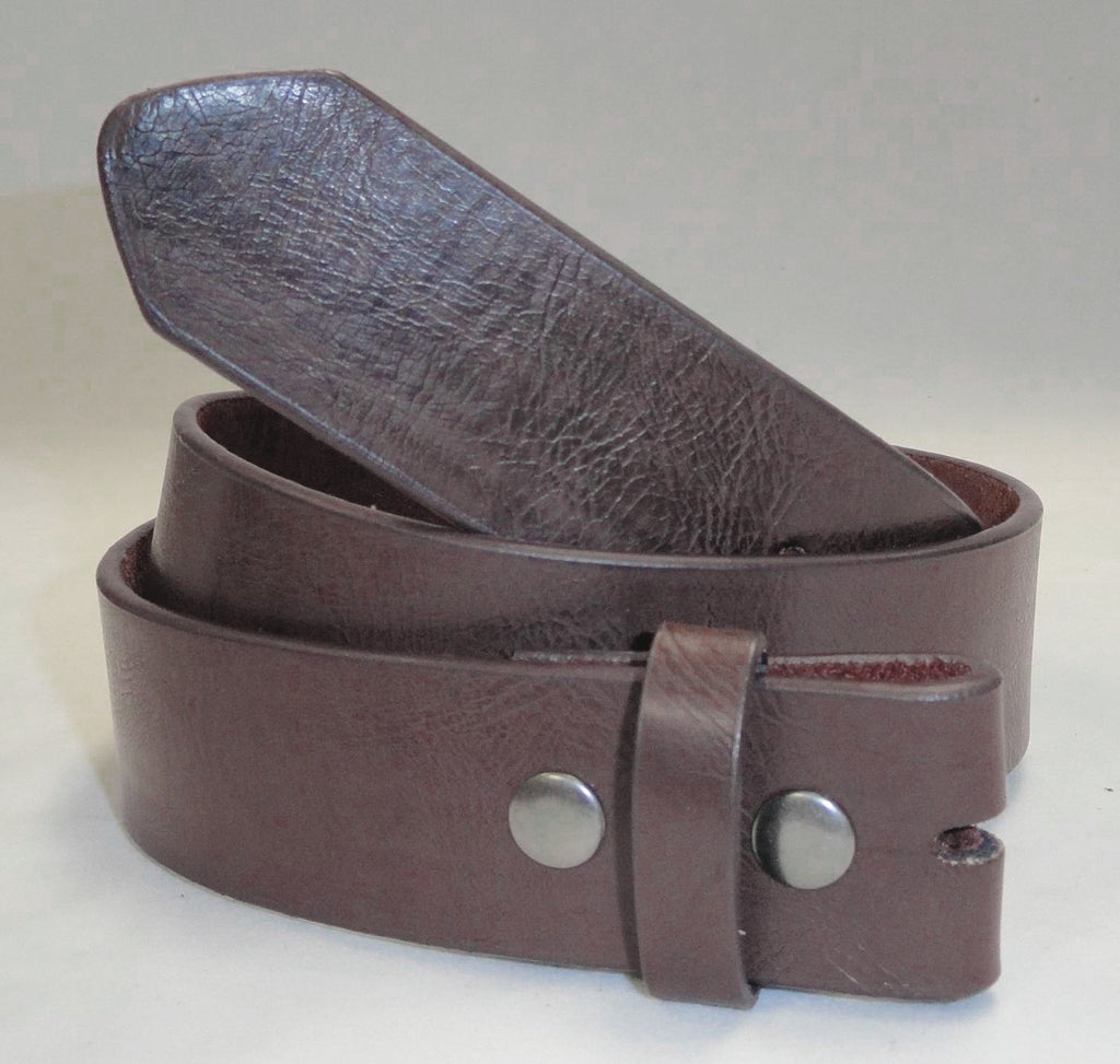 Wholesale Grained LEATHER SNAP ON BELT STRAP NC61BN