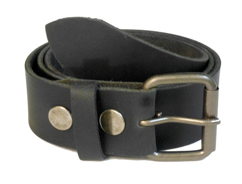 Men's Genuine Leather Jean Belt Wholesale Black leather belt 1845GBK