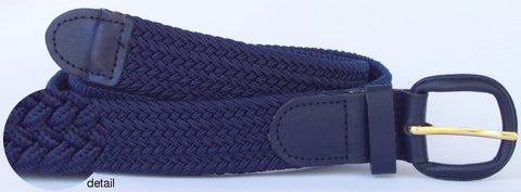 Wholesale Men's Elastic Braided Stretch Golf Belt NAVY BLUE Color 7001NB