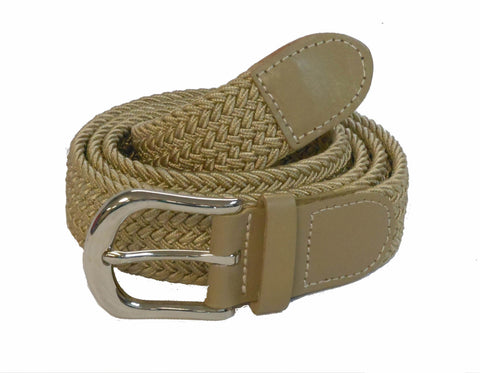 "Wholesale Golf Woven Elastic Leather Belt silver buckle 1-1/4"" 7200BG"